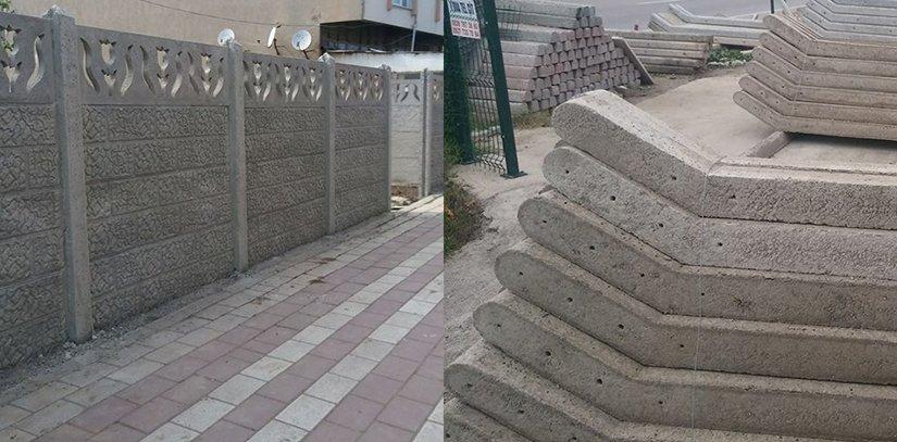 Bandırma beton direk motifli bahçe duvarları